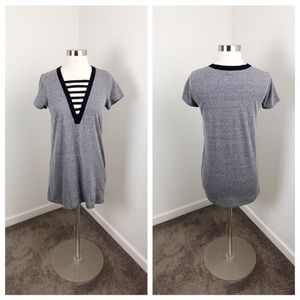 Forever 21 heather gray cut out mini dress